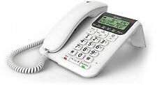 BT DECOR 2500 CORDED HOME / OFFICE PHONE + ANSWERING MACHINE WHITE