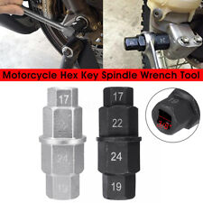 Motorcycle Wheels Hex Key Spindle Wrench Tool 17mm 19mm 22mm 24mm Black /