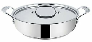Tefal Jamie Oliver H8039944 Stainless Steel 30cm Shallow Pan with Lid