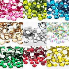 Wholesale 1000Pcs Nail Art Crystal Facets Resin Round Rhinestone Loose Beads 2mm
