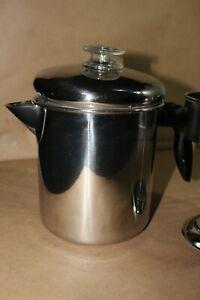 Farberware STOVE TOP PERCOLATOR Coffee Pot 2-8 Cup 768 MINT
