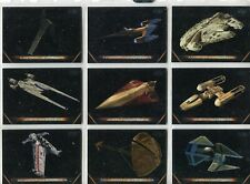 Star Wars Galactic Files 2018 Complete 10 Card Chase Set Vehicles