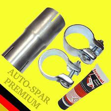 Auspuff Adapter Anschluss Rohrverbinder Reduzierstück 50 auf 45mm +Montagepaste