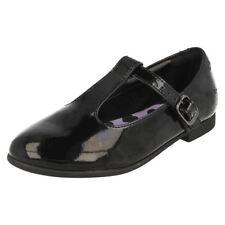 Chaussures habillées noirs en cuir pour fille de 2 à 16 ans
