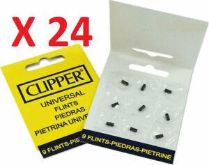 LOT de 24 x 9 Pierres à feu Universel / Marque CLIPPER pour briquet Clipper X216