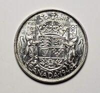 Canada 1946 Silver 50 Cents Half Dollar Coin
