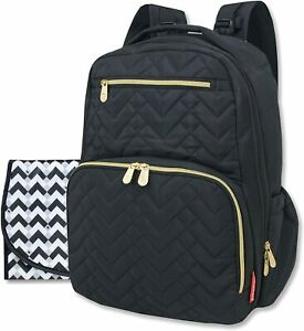 Fisher Price Changing Bag Black Morgan Nappy/Diaper Bag Backpack Rucksack