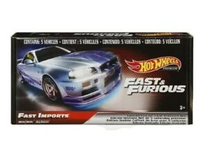 HOT WHEELS FAST AND FURIOUS LIMITED EDITION 5-CAR PREMIUM SET - FAST IMPORTS