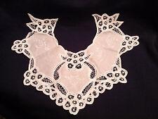 Victorian Battenburg Lace Collar White NEW in Pkg Perfect Condition Insert Fine