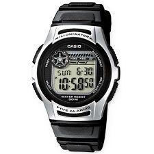 Casio reloj w-213-1a caballeros señora reloj digital reloj de pulsera plata negro nuevo & OVP