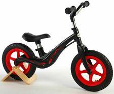 Alu Kinderlaufrad 12 Zoll Laufrad ab 2 Jahre Lauflernrad Mädchen Jungen Schwarz