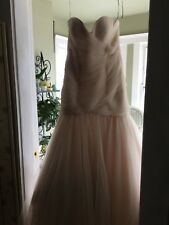 SHOWROOM SAMPLE Maggie Sottero Blush Tulle Wedding Gown - 12