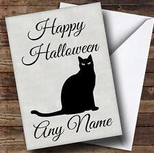 Black Cat Personalised Halloween Card