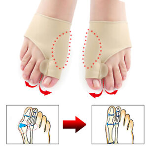 2Pcs Bunion Splint Big Toe Care Corrector Hallux Valgus Straightener Correction