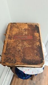 A 212 Year old Large Antique Leather Bound Bible 1809