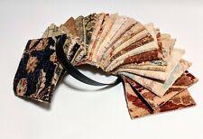 "Handmade Wool/Silk Blend 6"" Rug 22 pc. Sample Square Lot/Bundle Oushak"
