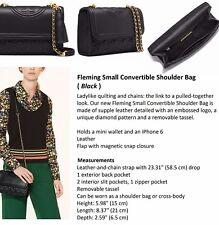 Tory Burch - Fleming Convertible Shoulder Bag- Black-Authentic