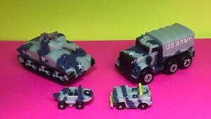 Vintage Micro Machines Insiders Military Cargo Truck & Sherman Tank MINT! RARE!!