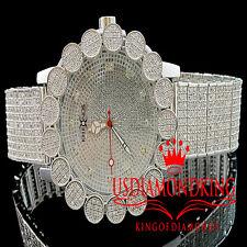 White Khronos Real Diamond Mens Joe Rodeo Cluster Bezel Iced Band Custom Watch