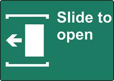 Slide To Open Door Left Business Sign Window Door Adhesive Vinyl Sign Decal