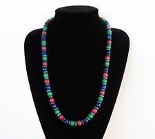 Collier en rubis, émeraude, saphir et azurite - 540 Carats pour 68.5cm