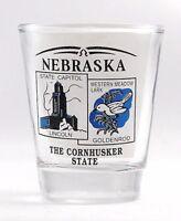 NEBRASKA STATE SCENERY BLUE NEW SHOT GLASS SHOTGLASS