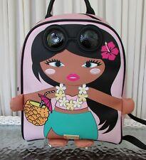 Luv Betsey Johnson Backpack Tropical Pineapple Hawaiian Girl Small Lbmindy