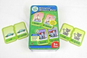 Leap Frog Bilingual Memory Mate Spanish & English Metal Tin Excellent Condition