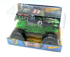 Mattel Hot Wheels Großes Auto 1:24 Monster Trucks Grave Digger