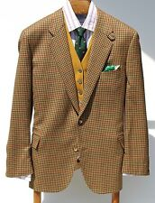 Façonnable XXL Gentleman's Tan Check 3-Roll/2 Fall Sport Coat - Italy