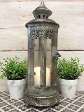 Antique Vintage Style Silver Colour Moroccan Lantern Candle Holder Moorish Home