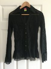 Save The Queen beautiful black shirt / blouse with detailed sleeves size medium