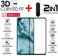 For OnePlus Nord (2020) Full Cover Tempered Glass Screen Protector + Camera Lens