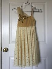 Yellow Lyrical Ballet Dress with flower [SIZE: MC (8-10 year olds)]