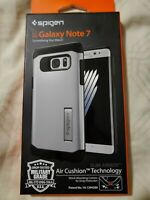 BRAND NEW SPIGEN SILVER CASE FOR SAMSUNG GALAXY NOTE 7 W/ GLASS SCREEN PROTECTOR