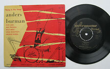 """7"""" Anders Burman - Swing Is The Thing - Metronome Mep 121 Ake Persson Ove Lind"""
