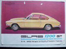 Prospekt Glas 1300 GT, 9.1963, 2 Seiten