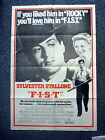 F.I.S.T. Original 1970s One Sheet Movie Poster Sylvester Stallone