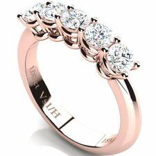Half Eternity Classic Anniversary Diamond Ring 1 ct Vs1 / H Rose Gold 18K