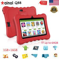 "7"" Tablet PC Google Android Quad Core 1GB+16GB WIFI 3G 2*Camera Bundle Case USA"