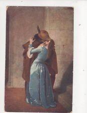 F Hayer Der Kuss Vintage Art Postcard 219b