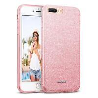 Handy Hülle iPhone 7 Plus Schutz Hülle Silikon Cover Glitzer Case Slim Tasche