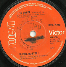 THE SWEET - BLOCK BUSTER ! / NEED A LOT OF LOVIN' Sol ORIGINAL 70s GLAM ROCK POP