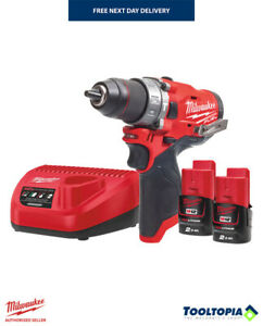 Milwaukee M12 Fuel Cordless Combi Drill Kit with Bag, 2 Batteries and Charger