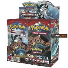Pokemon Sun & Moon Crimson Invasion Sealed Booster Box: 36 Packs SM-4 TCG Cards