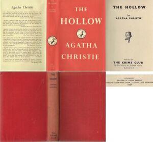 Agatha Christie  THE HOLLOW  1st w/fdj 1946 Collins Crime Club Hercule Poirot