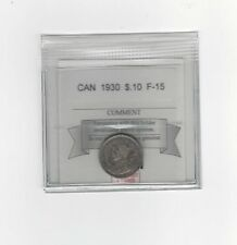 **1930** Coin Mart Graded Canadian,  10  Cent, **F-15**