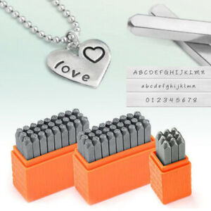Capital/Lowercase Alphabet Metal Engraving Stamp Set Letter Punching Tool AU NEW