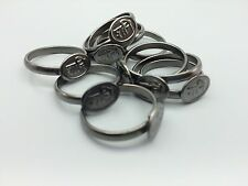 SHANI IRON RING SHANI RING HINDU MEDIATION YOGA BLACK HORSE SHOES RING X 5