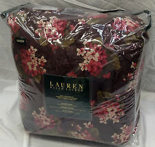 Ralph Lauren Narrow Creek Merlot Pink Sage Floral Full/Queen Comforter Set